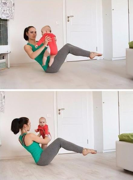 упражнения для мам с грудным ребенком
